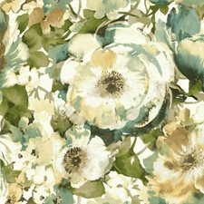 White/Teal/Yellow Bohemian Wallcovering by York