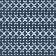 Deep Blue/White Geometrics Wallcovering by York