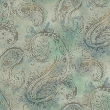 Aqua/Teal/Tan International Wallcovering by York