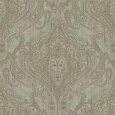 Pale Grey/Light Grey Blue/Taupe Damask Wallcovering by York
