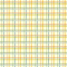 Warm Cream/Soft Sage/Dusty Blue Check Wallcovering by York